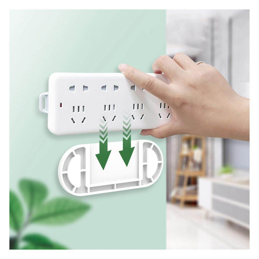 OEM Durable Wall Self Adhesive Power Strip Fixator, Heavy Duty Punch-Free Power Strip Holder Mount for Fixed Socket, Tissue Box, WiFi Router