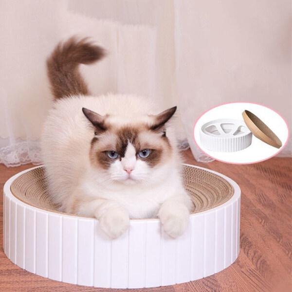 Bàn Tròn Cho Mèo Cào/Bát Giấy Gợn Sóng Tổ Mèo Chống Trầy Xước/Kết Hợp Có Thể Thay Thế Đồ Chơi Cho Mèo Cưng