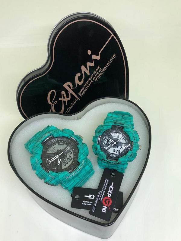 EXPONI WATCHES COUPLE SET (GREEN) Malaysia