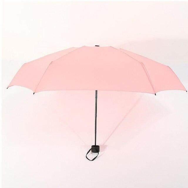 9 colores Mini bolsillo paraguas mujer UV pequeñas sombrillas sombrilla chicas anti-UV a prueba de agua portátil ultraligero viajes Dropshipping. exclusivo.,Naranja