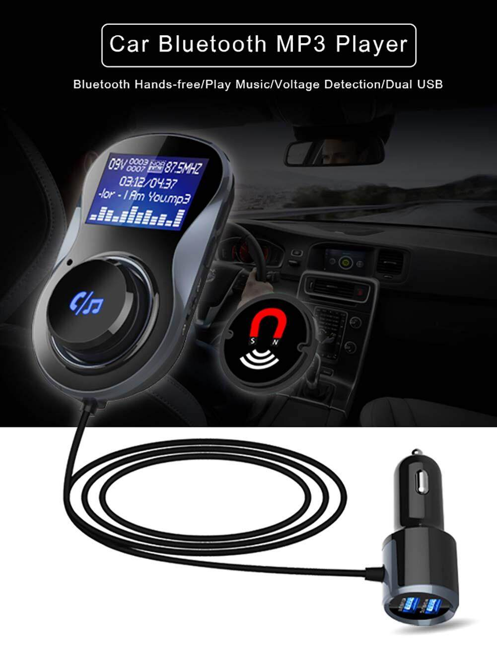 Topmotor Store-Car Bluetooth FM Transmitter Handsfree Car MP3 Music Player with LCD Display
