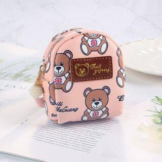 Ví Nhỏ Hàn Quốc RGC134, Cặp Sách Mini Hình Trái Tim Gấu Nữ Hoạt Hình Dễ Thương Ví Đựng Tiền Xu, Cặp Sách Học Sinh Ví Đựng Tiền Xu thumbnail