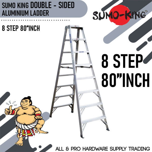 SUMO KING 8STEP 80INCH DOUBLE SIDED LADDER