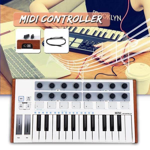 Worlde Portable MIDI Keyboard Controller Mini Professional 25 Keys USB MIDI Drum Pad - Malaysia