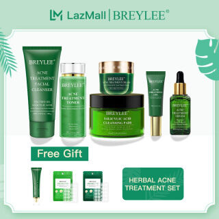 Free Gifts BREYLEE 6PCS Acne Treatment Set Facial Cleanser 2% Salicylic Acid Cleansing Pads Toner Tea Tree Oil Anti Acne Serum Acne Removal Gel Pimple Remover Cream Skin Care thumbnail