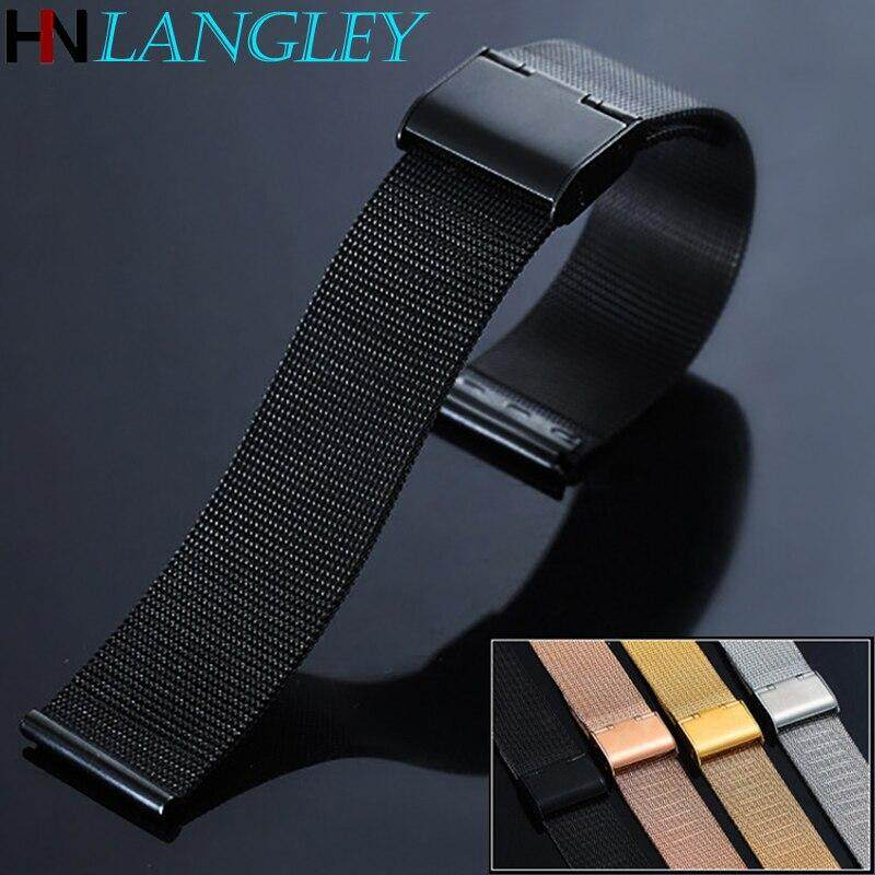 Universal General Milanese Loop Watch band 12 14 16 18 20mm 22mm 24mm Stainless Steel Strap Band Replacement Bracelet for Smart Watch Malaysia