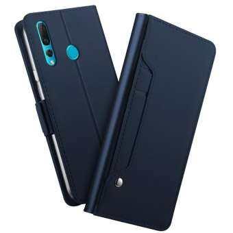 Huawei Nova 4 กรณี Huawei Nova 4 Case หนัง PU พลิกกระเป๋าสตางค์เคสครอบเต็มเคสแบบกระเป๋าพร้อมซองใส่บัตรและหัวเข็มขัดแม่เหล็ก-