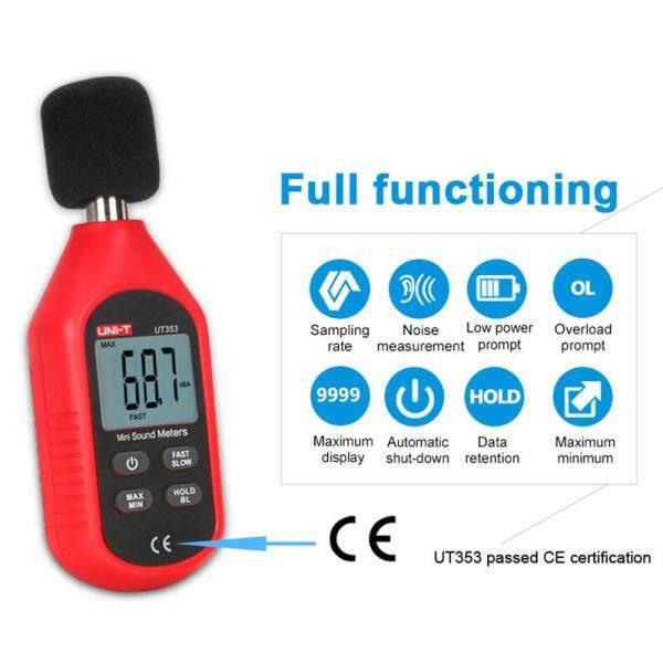 Meter Monitor UT353 Noise Measuring Instrument db Meter 30~130dB Mini Audio Sound Level Decibel