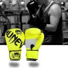 Găng Tay tập boxing (10-12 OZ) đào Tạo Thái Găng Tay Da cho Sparring Kickboxing Đánh Đấm Túi và Tập Trung Miếng Lót Đục Lỗ