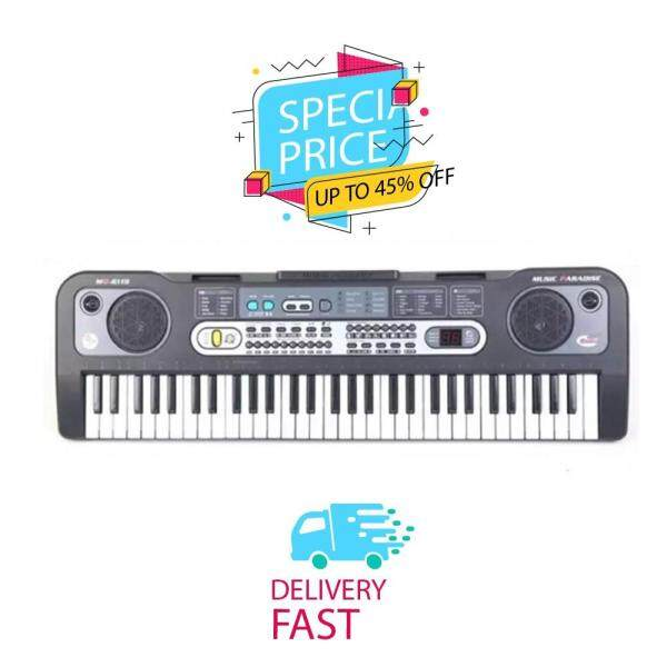 6A-6119 61 Keys Digital Piano Electronic Keyboard + Microphone + Cable / Super Fast Delivery Malaysia