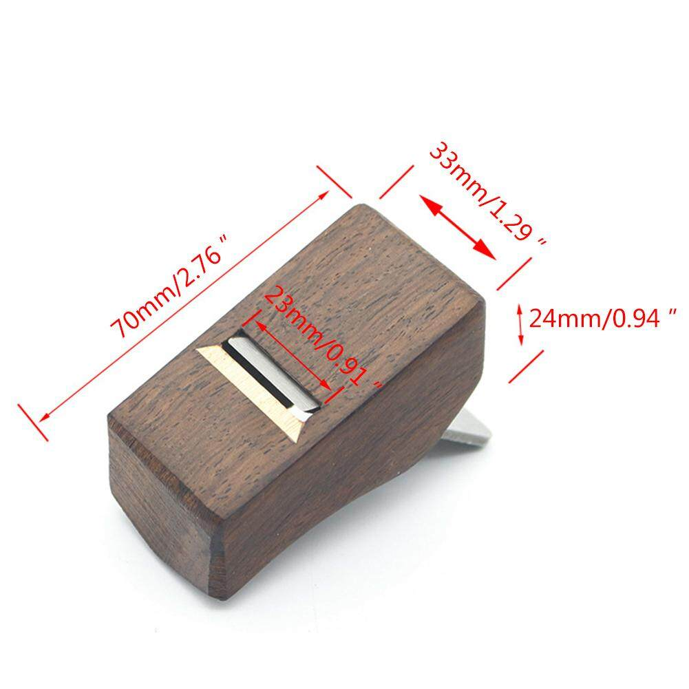 70mm Hand Planer Carpenter Ebony Woodworking Trimming Planing Tool for Making Wooden Surfaces Smooth