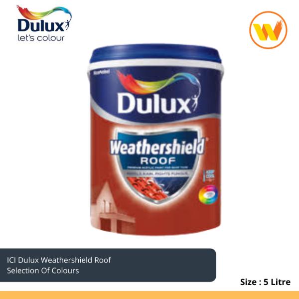 5L Dulux Weathershield Roof ( Roof paint) 5L Cat Atap Rumah ICI