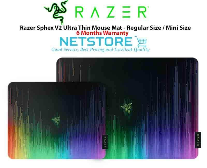 Razer Sphex V2 Ultra Thin Gaming Mouse Mat Mousepad - Standard Size (RZ02-01940100-R3M1) / Mini Size (RZ02-01940200-R3M1) Malaysia