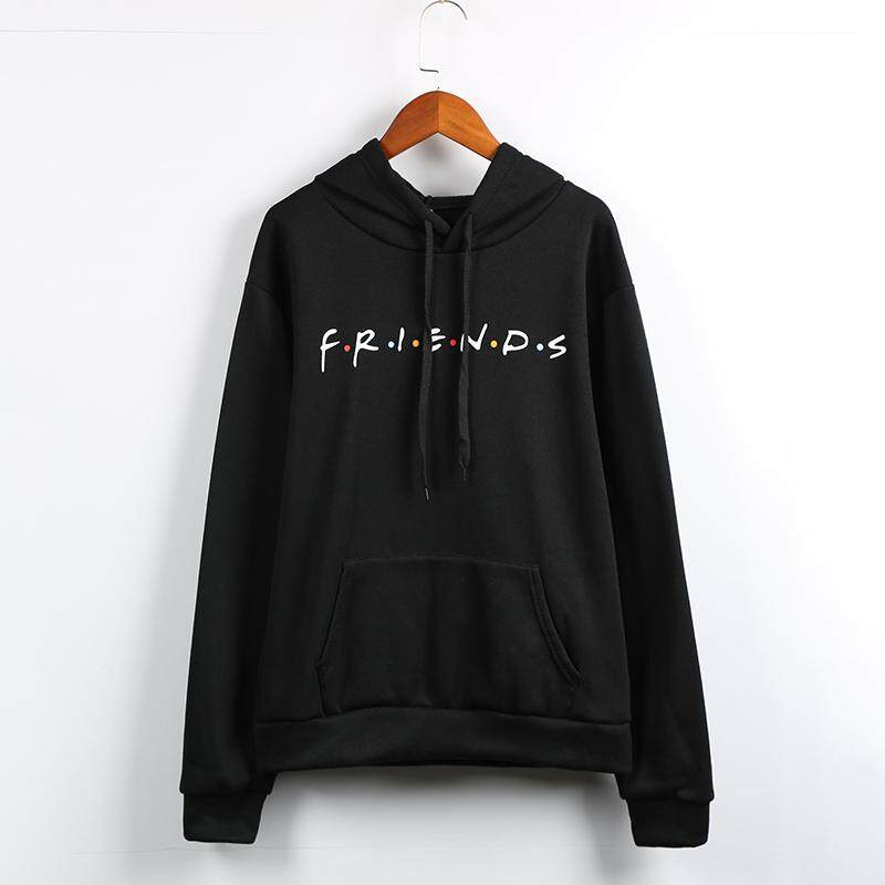 9979d893 Fashion Women Hoodie Friends Letter Print Front Pocket Long Sleeve Autumn Winter  Hooded Pullover Top