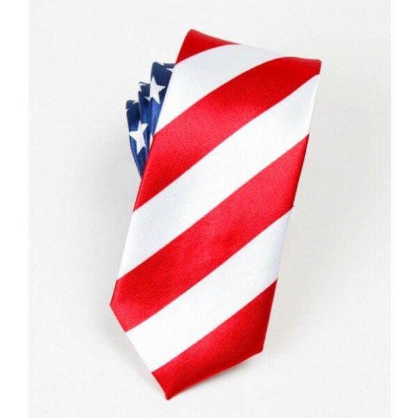 ♡Cherful655 Cà Vạt American/USA Tie Flag In Phụ Nữ Quan Hệ Polyester Dệt Men Wedding Tie