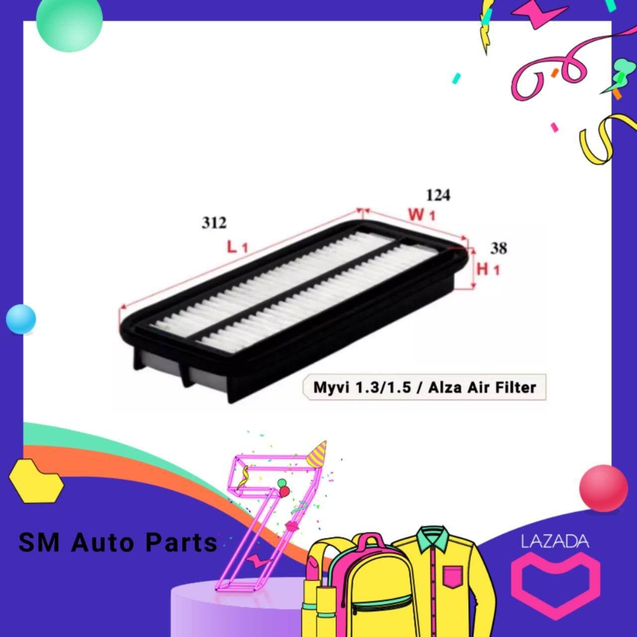 Alza/myvi1.3/myvi1.5 Oe Air Filter By Sm Auto Parts.