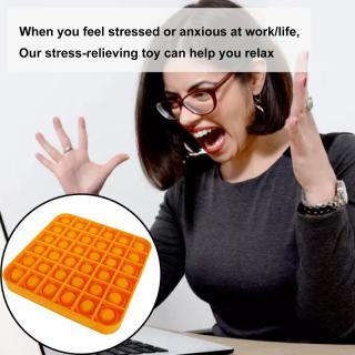 Pop It Fidget Stress Bong Bóng Đồ Chơi Đẩy Bong Bóng Fidget Đồ Chơi Cảm Giác Công Cụ Giảm Căng Thẳng Giúp Giảm Bớt Căng Thẳng Và Tăng Sự Tập Trung Bóp Mềm Đồ Chơi 5