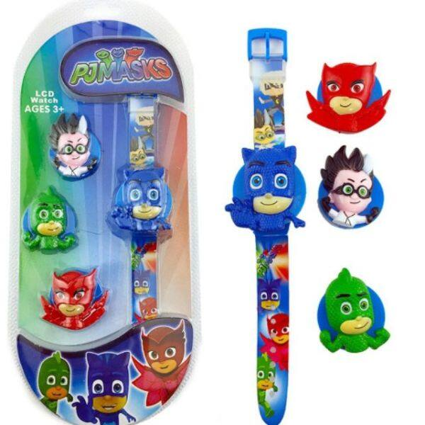 Comel PJMasks kids Lcd Toy Watch Ages3+ Malaysia