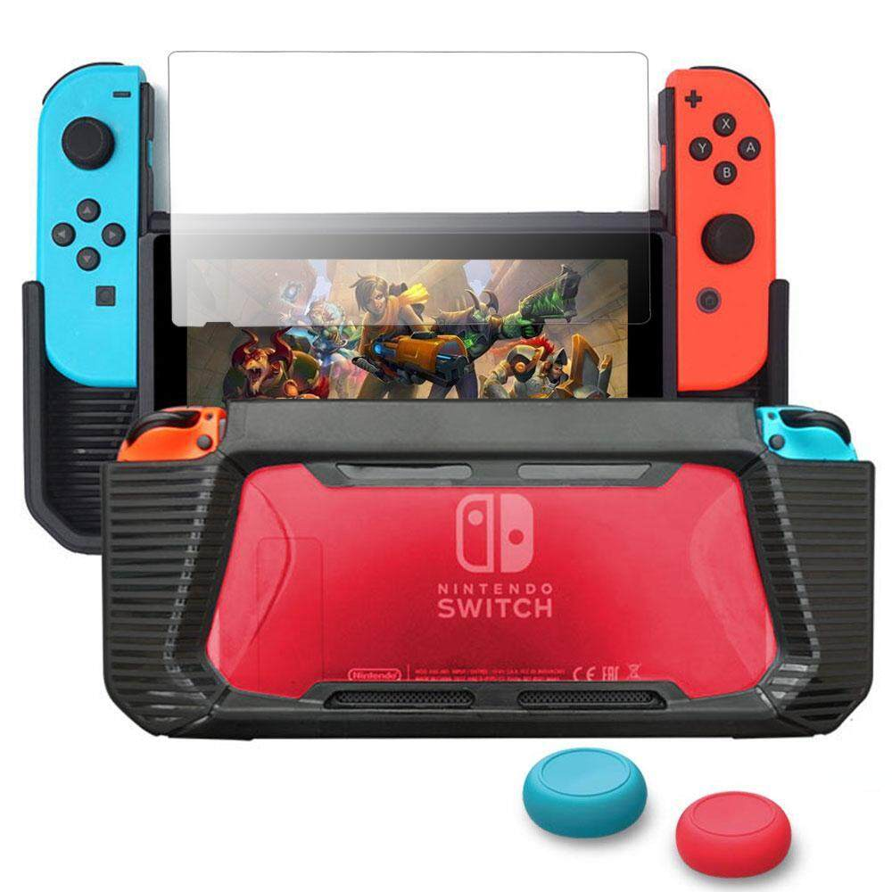 Outflety ใช้งานร่วมกับ Nintendo Switch Case ปกป้องหน้าจอ, Tpu ป้องกันอย่างหนักสำหรับ Nintendo Shock - Absorption และป้องกันรอยขีดข่วน By Outflety.