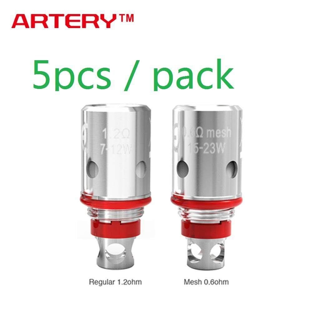 ET 5pcs Original Artery PAL II Coil with 0.6ohm Mesh Coil/ 1.2ohm Regular Coil for PAL 2 Pod Starter/PAL II Replacement Pod