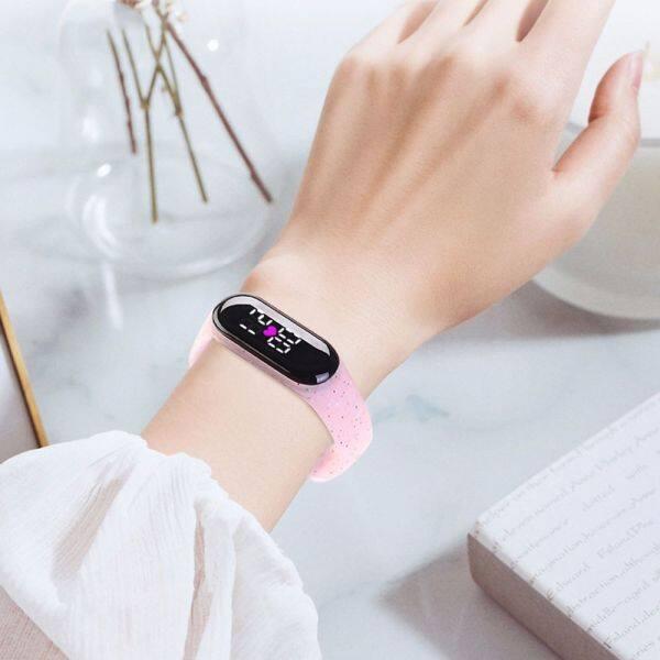 Nơi bán ZHIWOYO Tính cách Có thể điều chỉnh Màn hình cảm ứng Những cậu bé Các cô gái Màn hình kỹ thuật số LED Đồng hồ kỹ thuật số dành cho trẻ em Vòng đeo tay chạy bộ Đồng hồ đeo tay phong cách Hàn Quốc Đồng hồ điện tử phát s