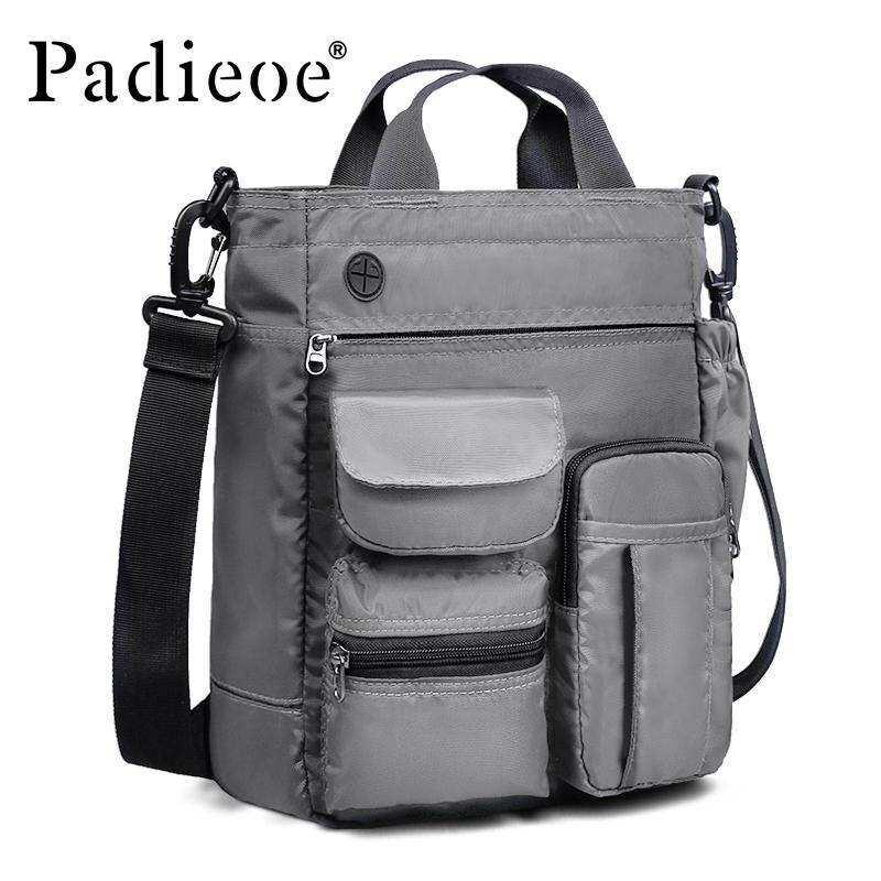 ALLMAX Padieoe New Mens Fashion Shoulder Bag Casual Crossbody Bag Male briefcase high quality men Ultra Light Nylon Messenger Bag Gift For Men