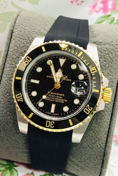 New [High Quality] Rolexs Sapphire Glass Sillicon Rubber Water Resistance Automatic Watch For Men With Free Box Malaysia