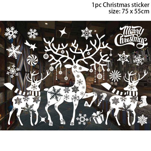 Merry Christmas Window Clings Decal Stickers Santa Claus Decorative Wall Stickers Thanksgiving Decorations Home Decor for Holiday Celebration Merry Christmas Winter Wonderland Party