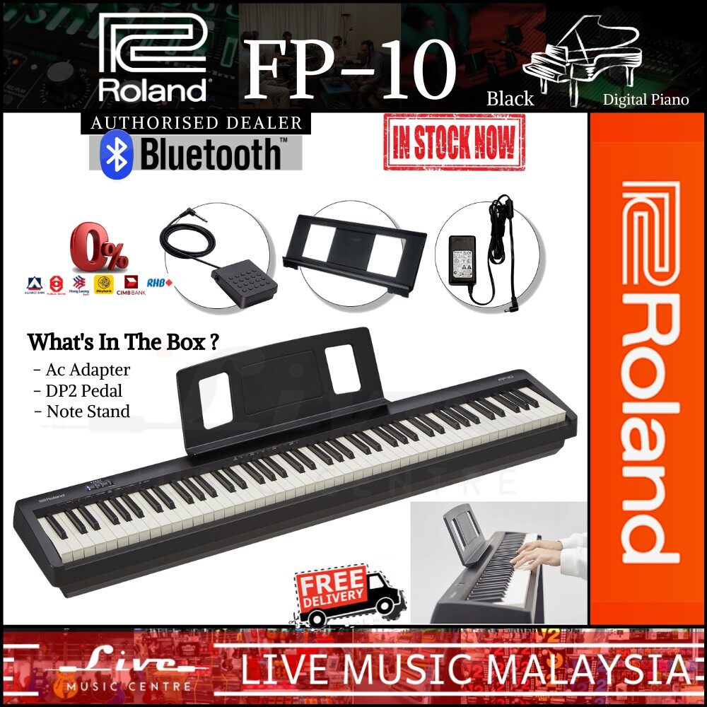 Roland Fp 10 88 Key Digital Piano With Note Stand And Adapter Fp10 Fp 10 Lazada Ph