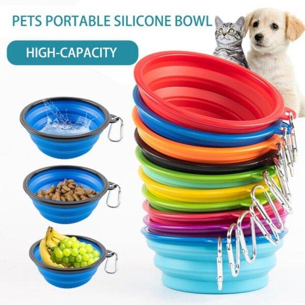 Con Chó Con Chó Bát Có Thể Gập Lại Eco Firendly Silicone Pet Dog Cat Thực Phẩm Trung Chuyển Nước Bát Ăn Di Động Du Lịch Hộp Đựng Thức Ăn Cho Chó Cún Con