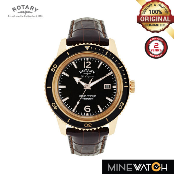 Rotary Ocean Diameter Colour mm Brown Strap Leather GS90097/04 Malaysia