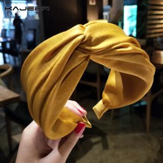 1 Chiếc Băng Đô Kajeer Vải Rộng Vành Hàn Quốc Phụ Nữ Tóc Ban Nhạc, Rắn Màu Mũ thumbnail
