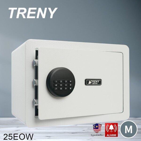 TRENY Standard Electronic alarm Safe Box Digital Safety Box Safe Box Burglar Safe Box Anti-Theft Box - 25EO