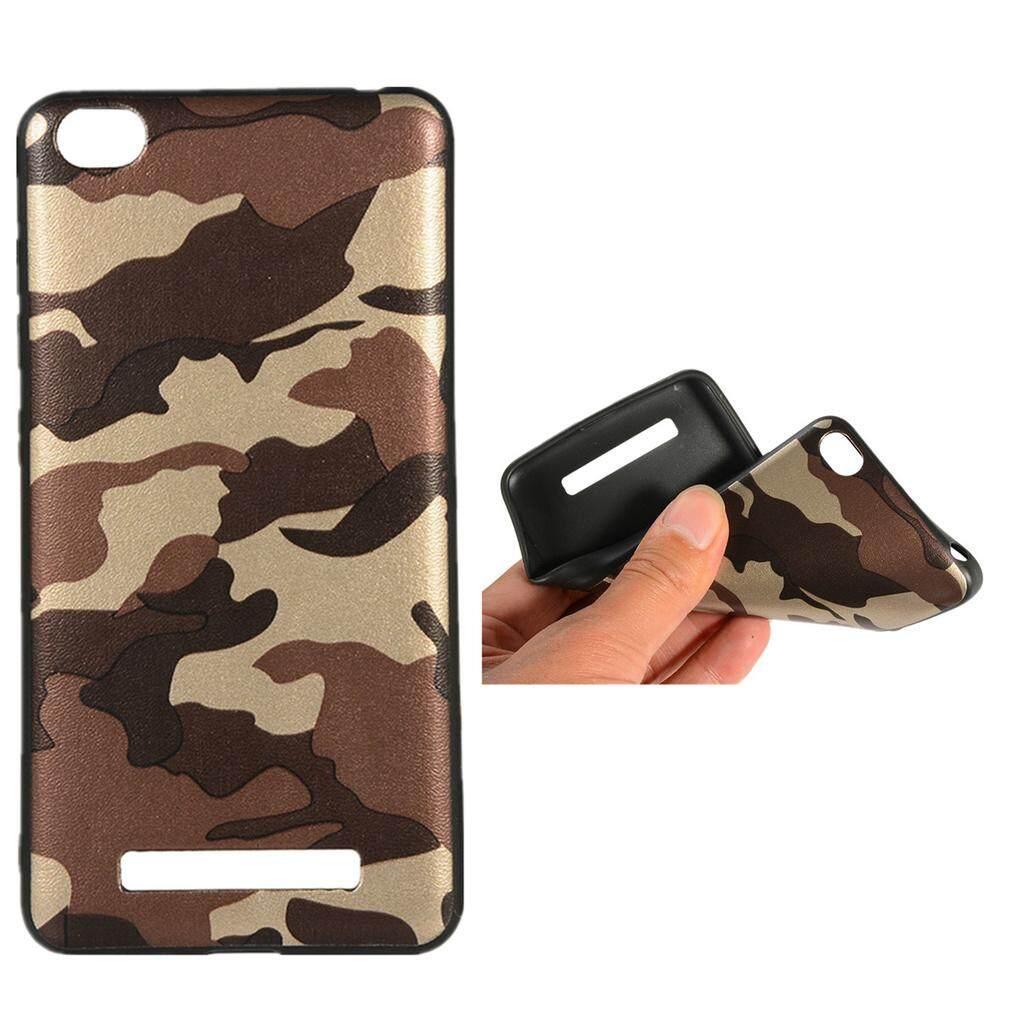 Baru Silikon Lembut Tpu Pelindung Kulit Kepribadian Fashion Kamuflase Casing Ponsel Slim Concision Ringkas Tahan Guncangan Penutup Belakang Hijau Tentara Penyangga Sarung Telepon Genggam untuk Xiaomi redmi 4A (5.0