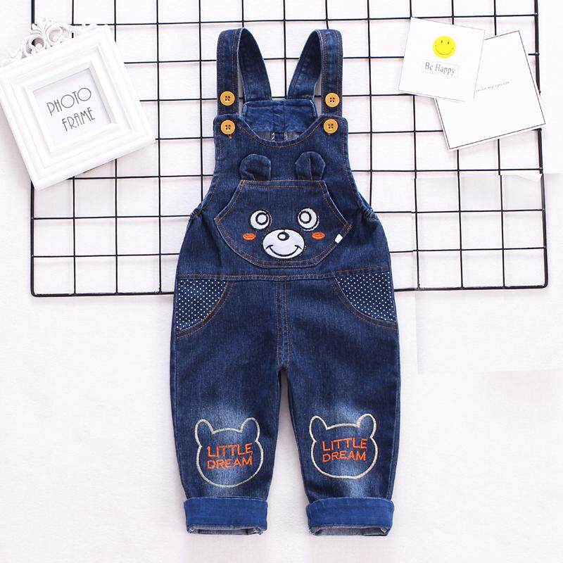 6d7fccd85 IENENS Kids Baby Boys Long Pants Denim Clothes Overalls Dungarees Toddler  Infant Boy Jeans Jumpsuits Clothes