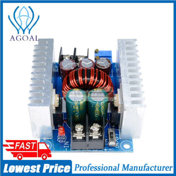 Agoal 300W 20A DC-DC Buck Converter Step Down Module Constant Current LED Driver Power Step Down Voltage Module Electrolytic Capacitor
