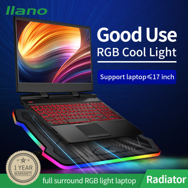 llano All-round RGB Light Laptop Cooler with Adjustable Wind Speed and Height
