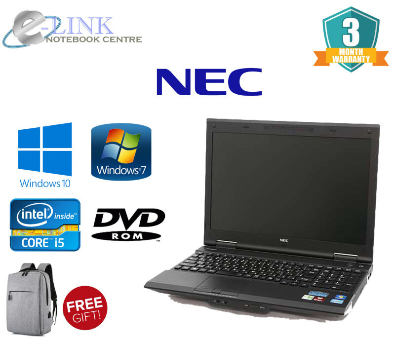 Laptop NEC VERSA PRO Intel i5 3Gen PC-VK27MXZCG / 4GB-8GB RAM / 250GB HDD / 120GB-240GB SSD / WINDOW 7-10 Malaysia