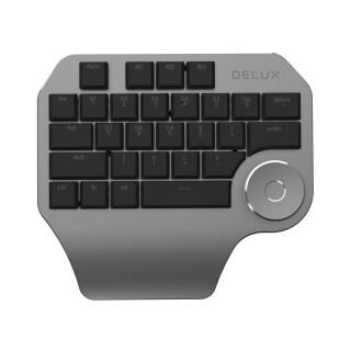Bàn Phím Một Tay Lập Trình Delux T11 Núm Đa Năng, Tương Thích Với Mac OS Windows & Phần Mềm Thiết Kế Chính Thống, Màu Đen thumbnail