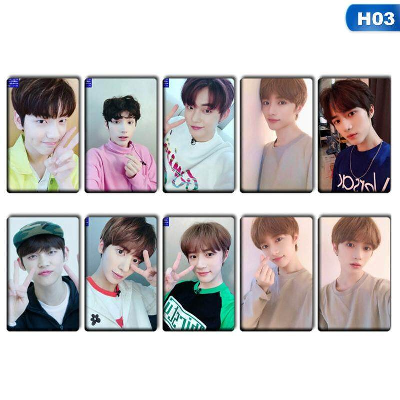 CANDY 10Pcs/Set Kpop Group TXT HD Photo Crystal Stickers Cards