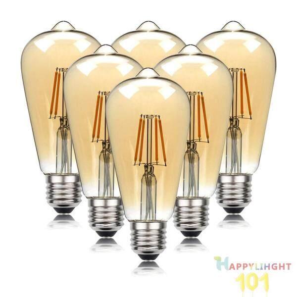 6 Cái Đèn LED Dây Tóc Cổ, Edison Bóng Đèn Đèn Bóng Đèn Thủy Tinh Cổ Điển, 4W