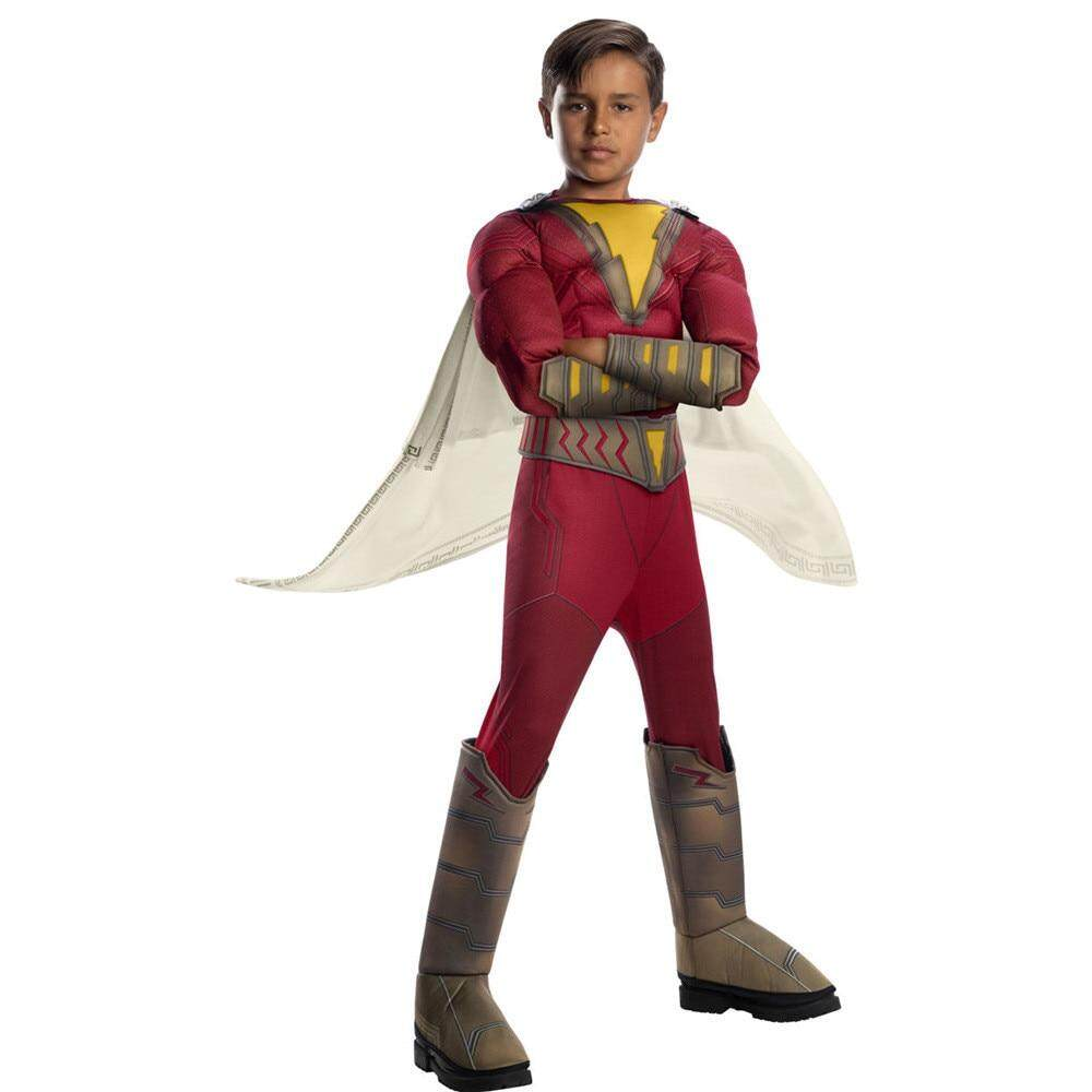 Avengers 4 Endgame Shazam Captain Cosplay Costume Zentai Bat son Kids Super hero Muscle Bodysuit Suit Jumpsuits