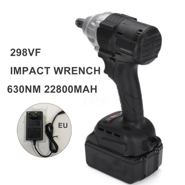 LED Light168VF 630NM Electric Cordless Impact Wrench Drill Socket With Battery