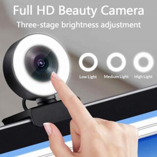Webcam PC Trusswin, USB Trò Chuyện Video LED Light Stream ROHS Webcamera Đèn Tròn Full HD 4K Webcam thumbnail
