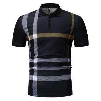 2019 ฤดูร้อน Lapel เสื้อยืดแขนสั้นผู้ชายแฟชั่นลำลองเสื้อโปโล-
