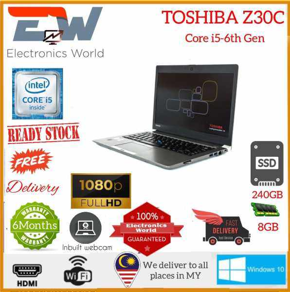 TOSHIBA Portege Z30C🔸Intel®️ Core™️ i5-6th Gen 🔸Intel HD Graphics  🔸8GB RAM  🔸240GB SSD  🔸13 FHD ⭐️Touch-Screen ✔️ 3 Month warranty Assignment   ✅ Kerja Office   ✅ Online Class  🎁 Free gift  : 🆓 Wireless mouse + Bag Malaysia