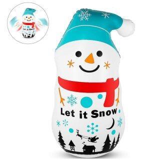 Có Thể Gập Lại Dễ Thương Cartoon Snowman Giáng Sinh Inflatable Tumbler PVC Đồ Trang Trí Hình Ông Già Noel Q22D thumbnail