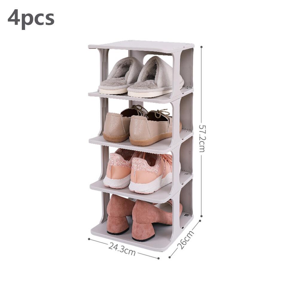4Pcs/6Pcs One Set Combination Shoe Rack Space-saving Bathroom Shoe Cabinet Shoes Storage Box