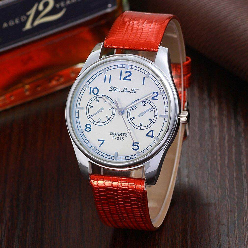 Crazy Sale Trendy Watches Female Crocodile Pattern Leather Strap Round Dial Quartz Watch Malaysia