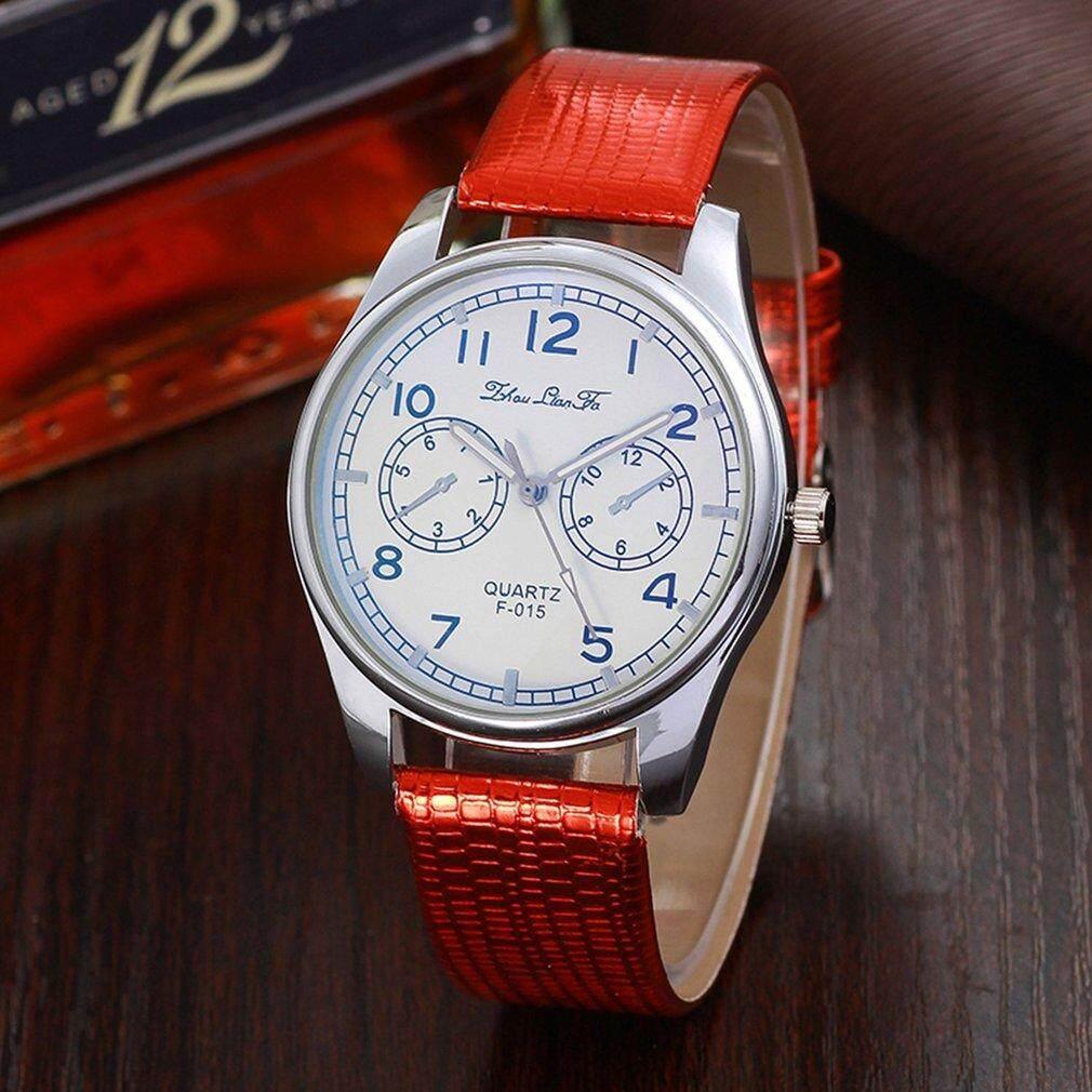 Crazy Sale Trendy Watches Female Crocodile Pattern Leather Strap Round Dial Quartz Watch Malaysia